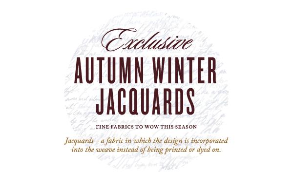 Exclusive Autumn Winter Jacquards