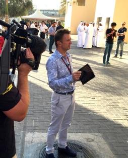 Allan McNish at the Abu Dhabi Grand Prix